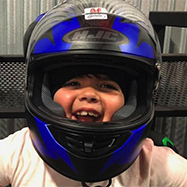 Child at RPM Raceway