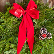 Everygreen Christmas Wreath with red bow