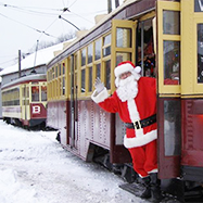 Santa at Shore Line Trolley Museum