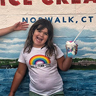Girl having Ice Cream in Norwalk