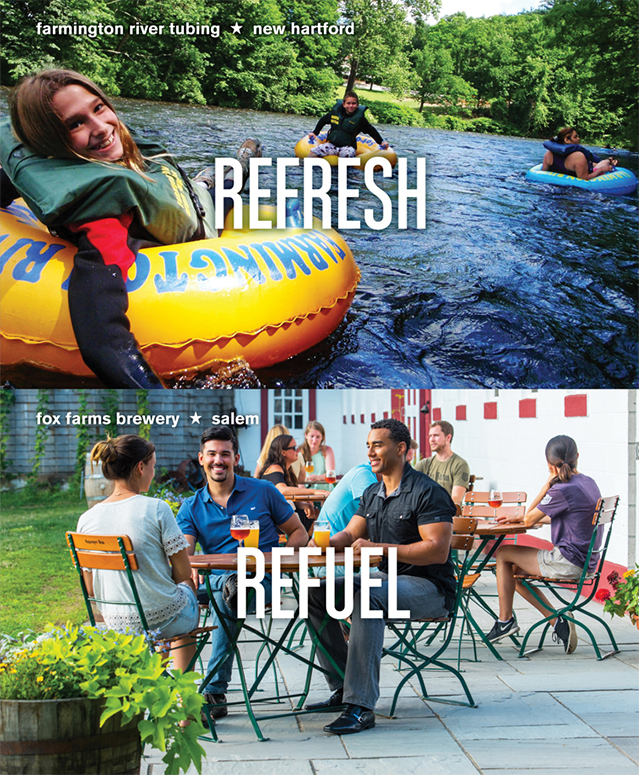 Farmington River Tubing, New Hartford  |  Fox Farms Brewery, Salem