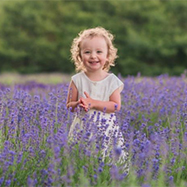 Girl in lavender